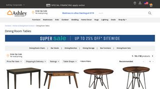 Ashley Dining Tables