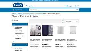 Lowe's Shower Curtains