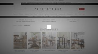Pottery Barn Dining Tables