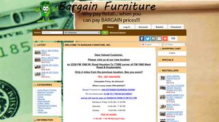 Bargain Furniture