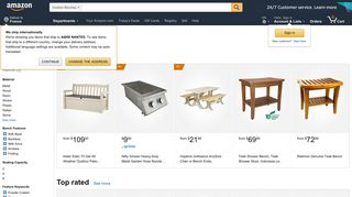 Amazon Outdoor Benches
