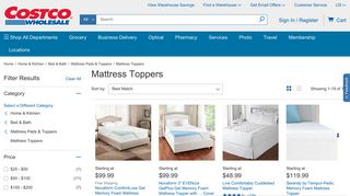 Costco Mattress Toppers