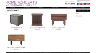 Home Koncepts Nightstands