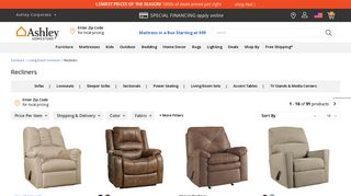 Ashley Recliners