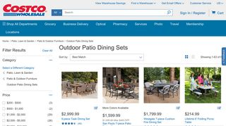 Costco Patio Dining Sets