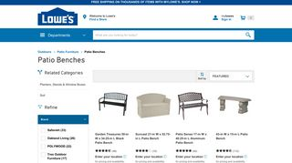 Lowe's Outdoor Benches