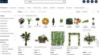 Walmart Artificial Plants