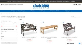 Chair King Benches