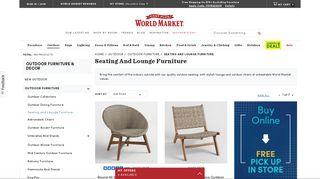 World Market Outdoor Seating