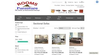 Rooms Furniture Sectionals