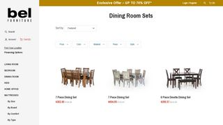 Bel Dining Room Sets